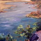 """Morro Bay"" Original Plein-Air Seascape Oil Painting by Geri Acosta Artist"