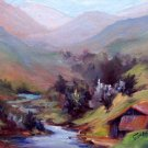 "SALE: ""Tucked Away"" An original Calif Landscape Oil Painting by winning colorest Geri Acosta"