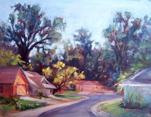 "ON SALE: ""Jeannie's Neighbors"" Original Calif plein-air by winning colorist Geri Acosta"