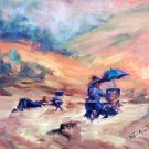 """Artists At Work:"" Original Calif Landscape Oil Painting by Geri Acosta"