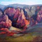 "Sedona Vista"" Original plein air oil landscape painting by expressionist artist Geri Acosta"
