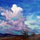 """Cloud Burst"" Original Sky Clouds Impressionistic Oil painting by Artist Geri Acosta"