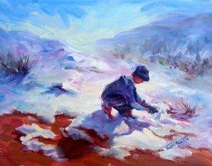 """First Snow"" Original Arizona Snowscape Landscape by Winning Colorest Geri Acosta"