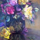 """Floral Study"" Original Impressionistic Floral Oil Painting by Colorest Geri Acosta"
