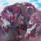 """Sky High"" Original pleinair mountain landscape oil painting by Geri Acosta"