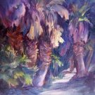 """Aqua Caliente"" Original Palm Tree Landscape Oil by Colorest Geri Acosta"
