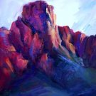 """Mountains Aren't Dull"" original mountain landscape oil by winning colorest Geri Acosta"