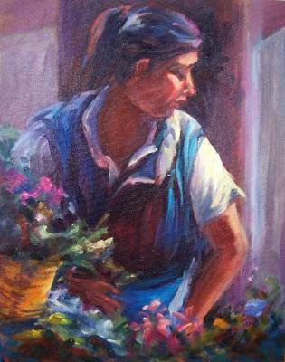 Mexican Flower Seller