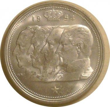 Belgium 1954 100 Francs