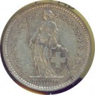 Switzerland 1944B 2 Francs VF