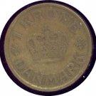 Denmark 1925 1 Krone F