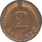 Germany 1965 J 2 Pfennig BU