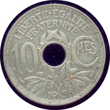 France 1938 10 Centimes Unc