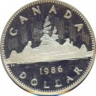 Canada 1986 Proof Dollar