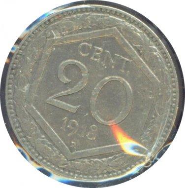 Italy 1918 20 Centesimi XF