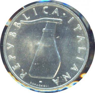 Italy 1953 5 Lire BU