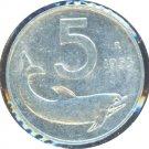 Italy 1955 5 Lire XF+