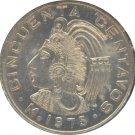 Mexico 1975 50 Centavos Dots BU