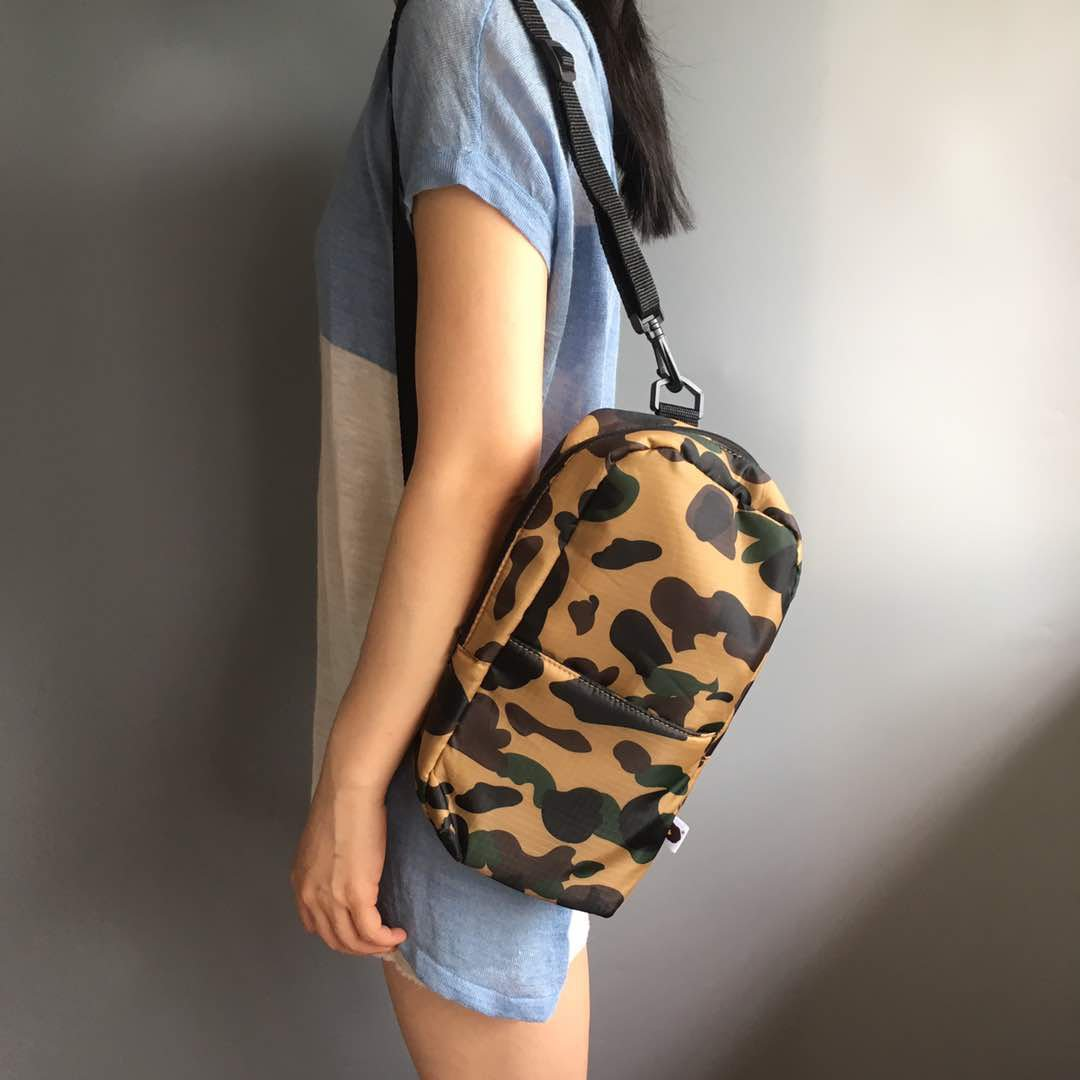Bathing ApeBape Green Camo Body Bag Men Creative gifts Sport bag Casual Bag Unisex