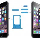 Card Tray & Volume Control Key & Screen Lock Key & Mute Switch Vibrator Key Kit for iPhone 6( Blue)