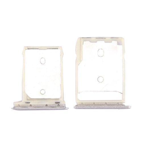 HTC 10 / One M10 SD Card Tray + SIM Card Tray (Silver)