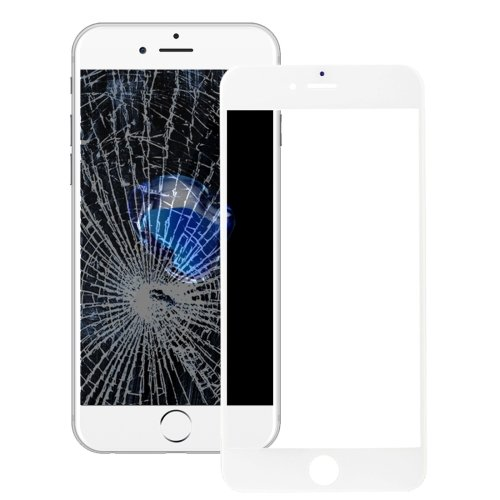 iPhone 7 Front Screen Outer Glass Lens with Front LCD Screen Bezel Frame(White)