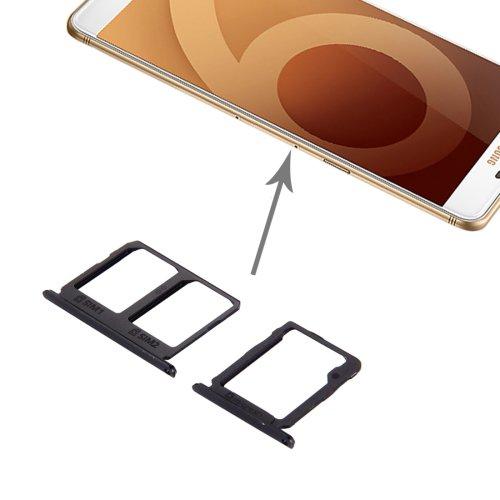 Samsung Galaxy C9 Pro / C9000 SIM Card Tray + Micro SD Card Tray(Black)