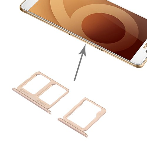 Samsung Galaxy C9 Pro / C9000 SIM Card Tray + Micro SD Card Tray(Gold)