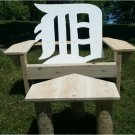 """English D"" chair, cedar adirondack chair, outdoor furniture, patio furniture, deck furniture"
