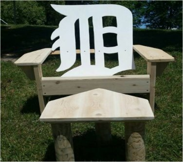 """English D"" chair, cedar adirondack chair, outdoor furniture, patio furniture, deck furniture"