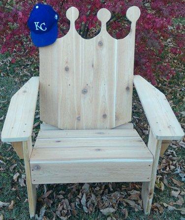 Royals adirondack chair, king chair, princess chair, crown shape chair, queen bee chair, RCSC01559