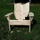 Ohio adirondack chair, Ohio chair, Ohio shape chair, Ohio wood chair