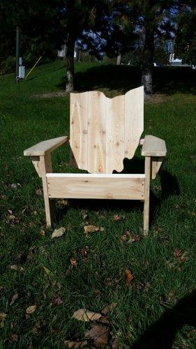 Ohio adirondack chair, Ohio chair, Ohio shape chair, Ohio wood chair