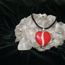 New Velvet 18 in Necklace with Red Heart Pendant