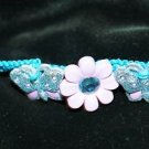 Teal Handcrafted Hemp  with 2 Blue Butterflies, 1 Flower Buttons w/metal closure