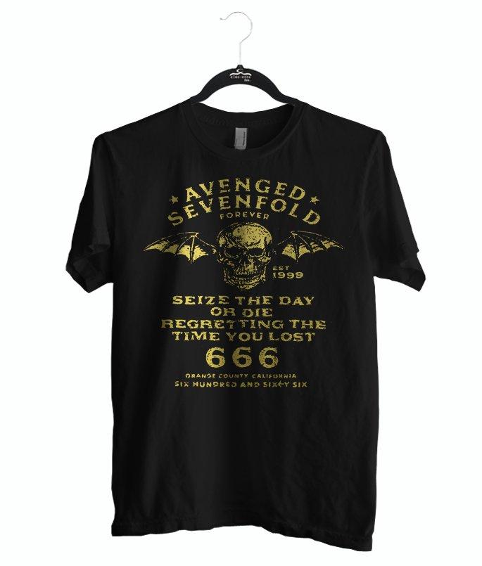 Avenged Sevenfold shirt, T-shirt Rocker color black, size S M L XL 2XL Unisex Adult