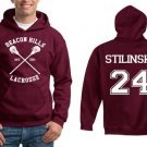 Teen Wolf Hoodie, Beacon Hills Lacrosse Hoodie, Stilinski 24 - size S to XXXL Unisex adult