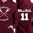 mccall 11 lacrosse beacon hills red maroon Hoodies