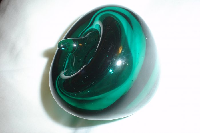 Gorgeous Blenko Emerald Green Apple