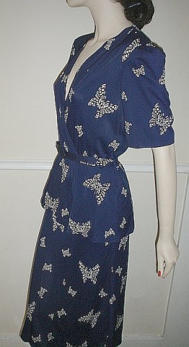 40's Nylon Butterfly Dress