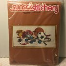 "SUNSET STITCHERY DESIGNS KIT #2602 ""ALL STAR"" EMBROIDERY KIT 16"" X 24"" NIP"