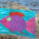 Tropical Rainbow Fish HAND PAINTED ORIGINAL TROPICAL WALL ART