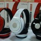 Wireless bluetooth headset earphone headphone earbud with TF card slot FM STN10 White