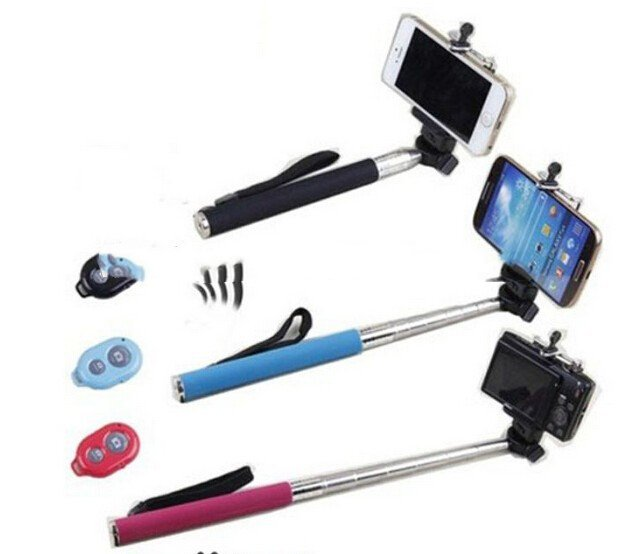 Selfie STICK TELESCOPIC Wireless Bluetooth For iPhone Remote Shutter Samsung iPh