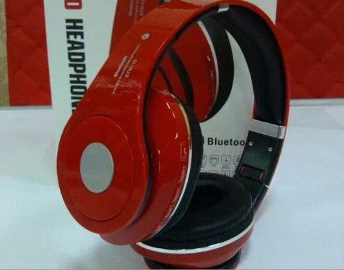 NEW BLUETOOTH STEREO HEADSET HEADPHONE STN 10 OVER THE HEAD UNIVERSAL- Red