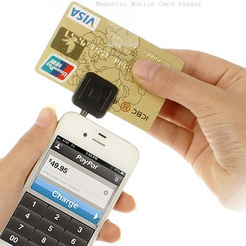 3.5mm Headphone Mini Magnetic Mobile Card Reader Works Support Apple iOS android