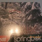 New Sealed Springbok 1500 Pieces Natures Crossing Puzzle Winter Snow Bridge