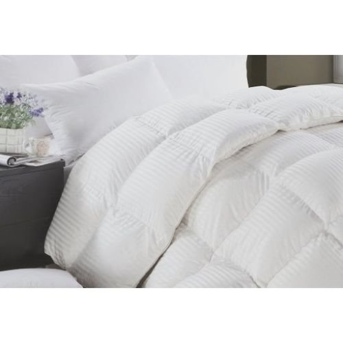 Striped & Solid-Oversized-Reversible-Down Alternative Comforter with Corner Tabs King