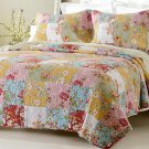 3pc Prairie Multi Color Printed Quilt Set Style # 1003 - Full/Queen