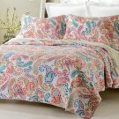 3pc Paisley Multi Color Printed Quilt Set Style # 1004 - King/Cal King